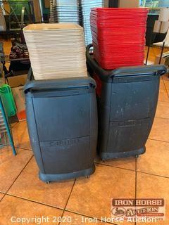 (2) Carts With Trays
