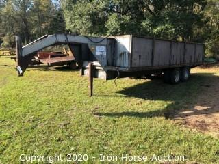 1990 Stoll Goose Neck Trailer w/ Sides