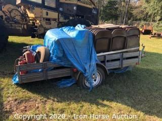 1991 Utility Trailer w/ Metal Chairs