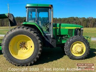 1997 John Deere 7810 Enclosed Cab 4x4 Tractor
