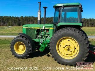 1984 John Deere 4450 Enclosed Cab 4x4 Tractor