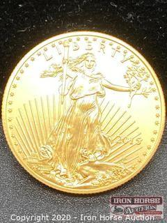 2015 $25 American Eagle 1/2 Ounce Gold Coin Uncirculated