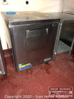 "Turbo Air MUF-48-N M3 Series 48"" Undercounter Freezer, 30"" Stainless Prep Table"