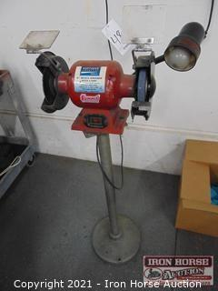 "Northern Industries 6"" Grinder on Pedestal"