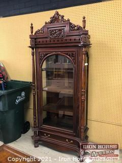 Antique Showcase Cabinet