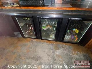 True 3 Door Undercounter Refrigerator