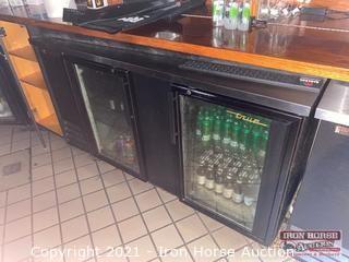 True 2 Door Undercounter Refrigerator