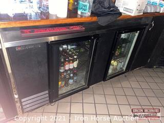 True 2 Door Undercounter Refrigerator