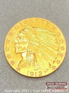 1912 Indian Head $5.00 Gold Coin