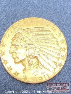 1911 Indian Head $5.00 Gold Coin