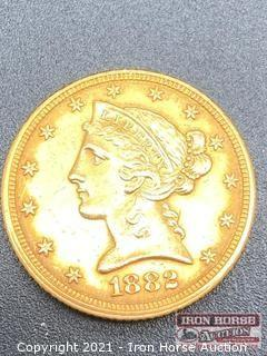 1882 Liberty Head $5.00 Gold Coin