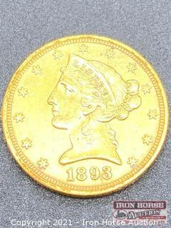 1893 Liberty Head $5.00 Gold Coin