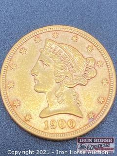 1900 Liberty Head $5.00 Gold Coin