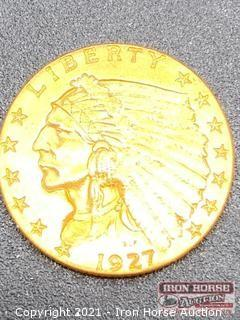 1927 Indian Head $2.50 Gold Coin