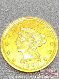 1901 Liberty Head $2.50 Gold Coin