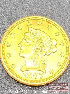 1907 Liberty Head $2.50 Gold Coin