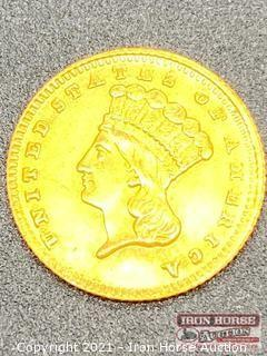 1858 Liberty Head $1.00 Gold Coin