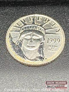 1999 Libety Head $10.00 1/10 Ounce Patinum Coin