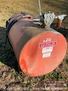 250 Gallon Turner Fuel Tank with Hand Pump