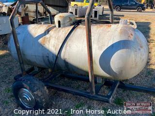 Propane Tank on Homemade Trailer (NO TITLE)