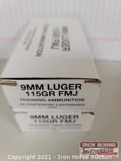 2 Boxes 9MM Luger 115 Grain FMJ (2x money)