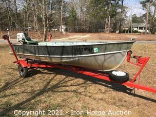 14 ft. Lund Aluminum Boat