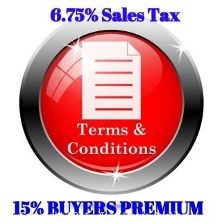 15 Buyers Premium and 6.75% Sales Tax