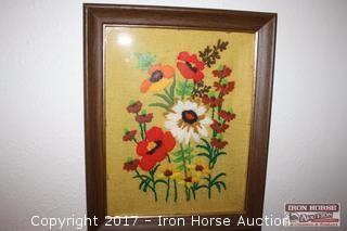 Framed Handmade floral.
