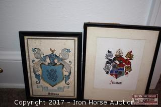Williams and Auman Family Crests.