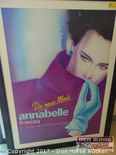 """Contemporary Framed """"Annabelle"""" Photo Offset."""