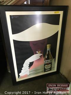 """Contemporary """"Linherr Vermouth Bianco"""" Poster"""