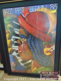 "Contemporary ""Jazz Fest Berlin"" Advertising Poster."