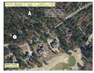 House and lot located at 19 Woodland Circle in Foxfire Village, NC