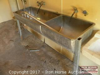 Stainless Two Basin Sink