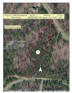 3.89+/- Acres at 121 Lakeview Pass in Rockingham, NC