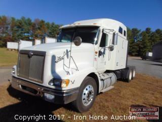 2007 International Model 9400i With Sleeper Road Tractor, Cummings Model ISX450ST, 10 Speed Fuller Transmission, Twin 159 Gal Alumn Fuel Tanks, Sliding 5th Wheel, 22.5 Steele Buds On Rear, Alumn On Front, 806,521 Miles Showing ,Vin# 2HSCNAPR87C505657(Lft Front Bumper Bent And Tire With Scrape)