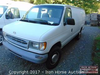 1997 Ford Econoline 350 Cargo Van, 7.3L Diesel Engine, 270,960 Miles Showing,Vin# 1FTJS34F0VHA83310, (soiled Interior, Drivers Seat Torn, Paint Flaking On Rear Dent On Rear Doors)