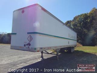 2000 Great Dane 45' Van Trailer, Sliding Tandem,  24.5 Steele Buds Hinged Rear & Side Door Vin# 1GRAA9026YSO33601