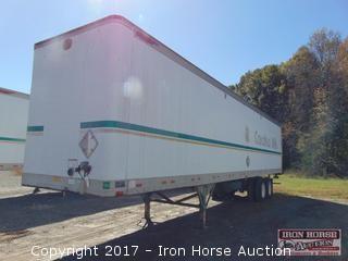 2000 Great Dane 45 Ft. Van Trailer, Sliding Tandem,  24.5 Steele Buds Hinged Rear & Side Door Vin# 1GRAA9028YSO33602